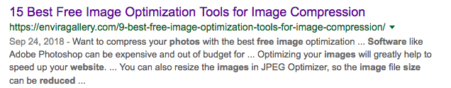 "Result of GOOGLE search, ""free software for reducing the size of images for the web"""