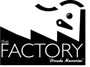 Logo for the factory - arcade games retro - restore